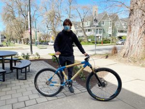Sustainable Bike Created by Fraser Academy Grade 12 Student