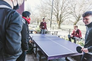 Fraser Academy Grade 12 Students Play Table Tennis